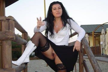 Boss spreads her legs in public