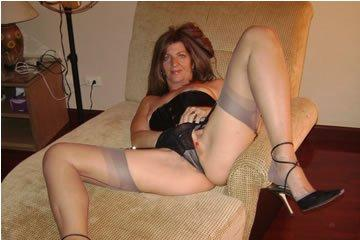 Elegant and horny stocking fan