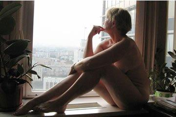 Naked in the window