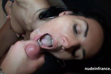Anal sex and facial for a french MILF
